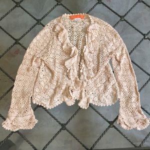 Cynthia Steffe crochet knit cardigan